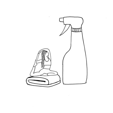 Receta para limpiar tu mat
